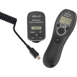 Vello Wireless ShutterBoss II Remote Switch with Digital Timer for Select Olympus Cameras