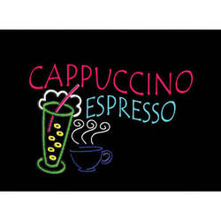 """Porta-Trace / Gagne LED Light Panel with Cappuccino Espresso Logo (24 x 36"""")"""