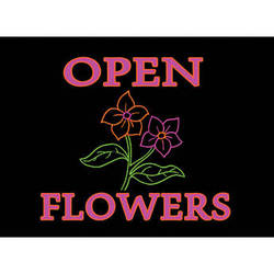 """Porta-Trace / Gagne LED Light Panel with Flowers, Open Logo (11 x 18"""")"""