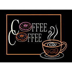 """Porta-Trace / Gagne LED Light Panel with Coffee Logo (16 x 18"""")"""