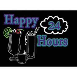 "Porta-Trace / Gagne LED Light Panel with Happy Hours 24 Logo (18 x 24"")"