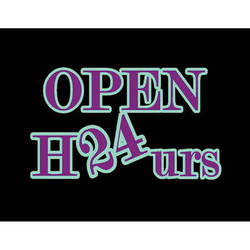 """Porta-Trace / Gagne LED Light Panel with Open 24 Hours Logo (24 x 36"""")"""