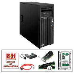 HP Z230 Series F1M15UT Turnkey Workstation with 32GB RAM, 4TB HDD, Quadro K620, and Media Card Reader
