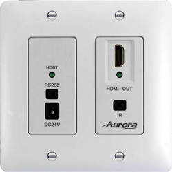 Aurora Multimedia DXW-2-RX1 HDBaseT Wall Plate Receiver (White)