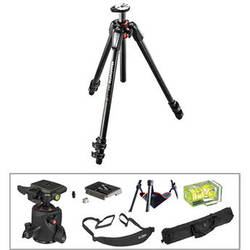 Manfrotto MT055CXPRO3 Carbon Fiber Tripod with 054 Q2 Magnesium Ball Head Deluxe Kit