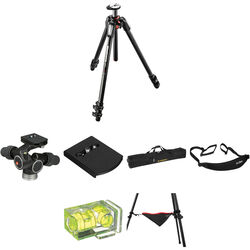 Manfrotto MT055CXPRO3 Carbon Fiber Tripod with 405 Pro Digital Geared Head Deluxe Kit