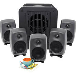 """Genelec 8020.LSE Espresso 4"""" Active 5.1 Monitor System with 8"""" Subwoofer"""