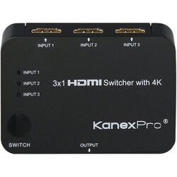 KanexPro 3x1 HDMI Switcher with 4K Support