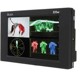 """ikan D5W-2 5.6"""" On-Camera Monitor with Waveform, Scopes, and Canon LP-E6, Nikon EN-EL15, Panasonic G6 Type Battery Plates"""