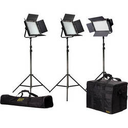 ikan Featherweight Large Bi-Color LED Kit with 1x IFB576 and 2x IFB1024 Lights