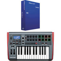Novation Novation Impulse 25-Key Semi-Weighted Controller + Ableton Live Software Kit