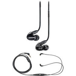Shure SE315 Sound-Isolating Earphones and Music Phone Accessory Cable Kit (Black)