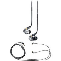 Shure SE425 Sound-Isolating Earphones and Music Phone Accessory Cable Kit (Metalic Silver)