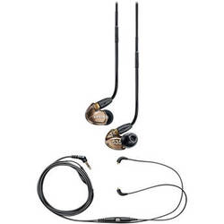 Shure SE535 Sound-Isolating Earphones and Music Phone Accessory Cable Kit Metallic Bronze)