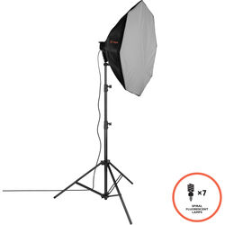 Raya Octa Fluorescent 7-Socket Fixture 1-Light Softbox Kit