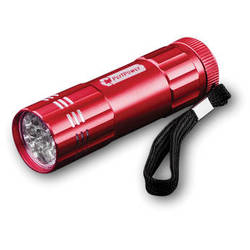 Go Green 9 LED Flashlight (Red)