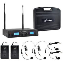 Pyle Pro Premier Rackmount UHF Wireless Microphone System