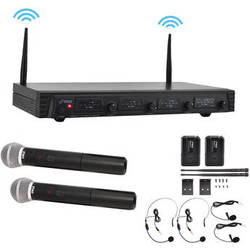 Pyle Pro Premier Rackmount Series VHF Wireless Microphone System
