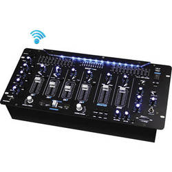 Pyle Pro PYD1964B - 4-Channel Rackmount DJ Mixer with Bluetooth and Digital Effects