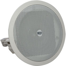 "RCF Full Range 3.5"" Flush Mount Ceiling Speaker (8W, 8 Ohms, 100V/70V, IP44 Rated)"