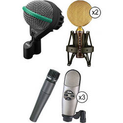 AKG Rock And Pop Drum Microphone Kit