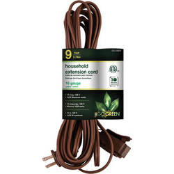 Go Green Household Extension Cord (9', Brown)