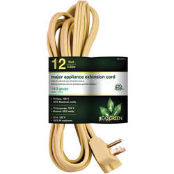 Go Green 3-Outlet Major Appliance Extension Cord (12', Beige)