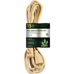 Go Green 3-Outlet Major Appliance Extension Cord (15', Beige)