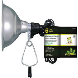 "Go Green Clamp on Lamp with Reflector (5.5"" Shade)"