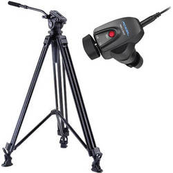 Acebil J-805MX Prosumer Tripod System with RMC-1DVX Video Lens Zoom Controller
