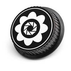 LenzBuddy Flower Rear Lens Cap for Canon (Black & White)