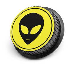 LenzBuddy Alien Rear Lens Cap for Canon Cameras (Yellow)