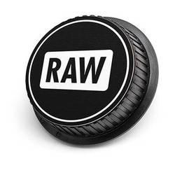 LenzBuddy Raw Icon Rear Lens Cap for Canon Cameras (Black & White)
