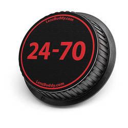 LenzBuddy 24-70mm Rear Lens Cap (Black & Red)