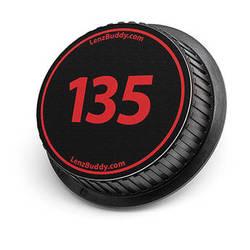 LenzBuddy 135mm Rear Lens Cap (Black & Red)
