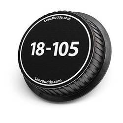 LenzBuddy 18-105mm Rear Lens Cap (Black & White)