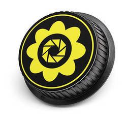 LenzBuddy Flower Rear Lens Cap for Nikon Cameras (Yellow)