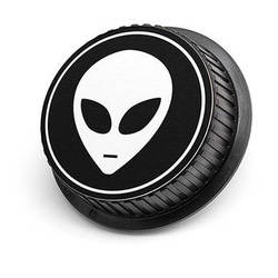 LenzBuddy Alien Rear Lens Cap for Nikon Cameras (Black & White)