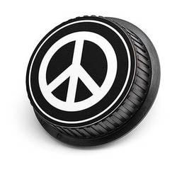 LenzBuddy Peace Sign Rear Lens Cap for Nikon Cameras (Black & White)