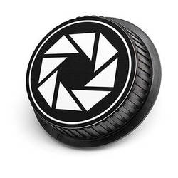 LenzBuddy Aperture Icon Rear Lens Cap for Nikon Cameras (Black & White)