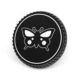 LenzBuddy Body Cap for Nikon F Mount Cameras (Butterfly, Black/White)
