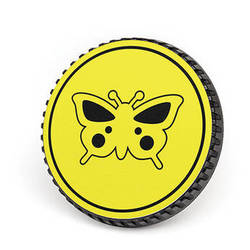 LenzBuddy Body Cap for Nikon F Mount Cameras (Butterfly, Yellow)