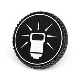 LenzBuddy Body Cap for Nikon F Mount Cameras (Flash, Black/White)