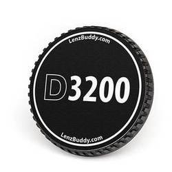LenzBuddy Body Cap for Nikon F Mount Cameras (D3200, Black/White)