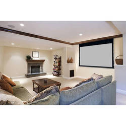 """Stewart Filmscreen 00920-2153S Cima Above Ceiling 60 x 141"""" Ceiling-Recessed Projection Screen (120V)"""
