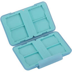 Ruggard Memory Card Case for 8 SD Cards (Light Blue)