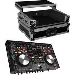 Denon DJ MC6000MK2 Professional Digital Mixer and Controller Kit with Flight Case & Sliding Shelf