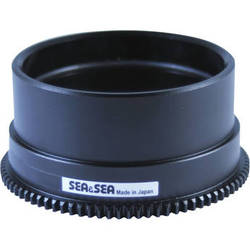 Sea & Sea Zoom Gear for Sony 10-18mm f/4 OSS Lens in Port on a6000 MDX Housing