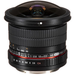 Samyang 12mm f/2.8 ED AS NCS Fisheye Lens for Canon EF Mount