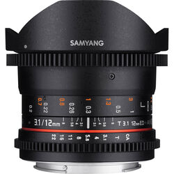Samyang 12mm T3.1 VDSLR Cine Fisheye Lens for Pentax K Mount